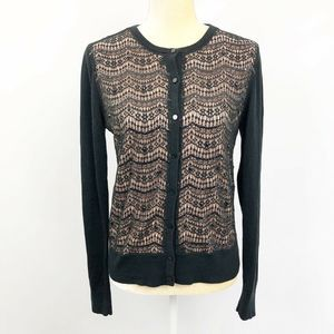 Ann Taylor Lace and Sequin Embellished Cardigan